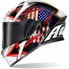 AIROH CASCO VALOR SAM BLACK GLOSS VASM17