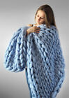 Handmake Knitted Blanket Thick Line Arm Knitted Wool Home Sofa Cover Blanket   image