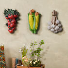 Wall Mounted Vegetable Fruits Statue Sculpture Resin Art Kitchen Hanging Decor