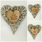 Rustic Natural Wicker Wreath Limewash Hanging Heart Design, Home/Gift Decoration