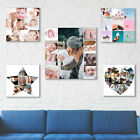 SQUARE PHOTO COLLAGE CANVAS VALENTINES DAY GIFT IN MANY SIZES, DESIGNS & GIFTS