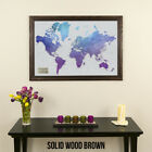 Vibrant Violet Watercolor World Map - Push Pin Travel Map - Pin Your Travels