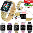 Apple Watch Band iWatch Leather Glitter Wrist Strap Bling Series 4 1 2 3 38/42mm image