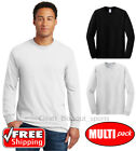 Pack Gildan Long Sleeve T Shirt Mens Undershirt White Black 3 4 6 12 24 Lot 5400