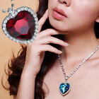 Fashion Vintage Crystal Heart Wedding Accessories Pendant Necklace