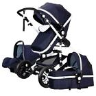 3in1 Baby Pram Pushchair Stroller Car Seat Carrycot Travel System Buggy Ne COP