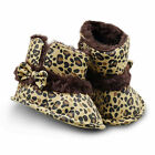 Baby girls first walkers cosy warm winter parm boots Leopard pattern  (3-6M)