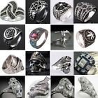 Vintage Punk Style 925 Sterling Silver Ring Unisex Party Jewelry Size 6 7 8 9 10