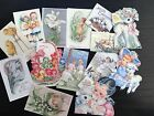 BB74 -- Lot of 14 Vintage Easter Greeting Card DIE CUTS for CARD MAKING