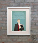 MALCOLM TUCKER (Thick Of It) Minimalist Poster Art Posteritty Quote Tuckers Law