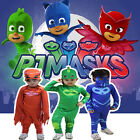 Kids Superhero PJ Masks Jumpsuit Cape Mask Owlette Catboy Cosplay Costume Party