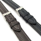 Lightly Padded XL Leather Watch Band Contrast Stitched 16mm 18mm 20mm C010