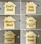 PERSONALISED WOODEN KEYRING GIFT HOUSE FIRST HOME SWEET HOME Single Xmas