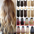 Secret Invisible Headband Wire in Hair Extensions Long as human Wavy Straight W2