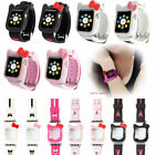 Cute Hellokitty Silicone Protect Case Cover for iWatch Series 2 3 4 5 6 SE Band