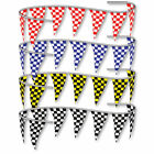 RACING Pennant Flags Checkered Triangle Race Flag Streamers 100 Ft  NASCAR