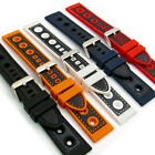 Silicone Grand Prix Racing Style Sports Watch Strap 20mm 22mm 24mm C032