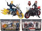 Marvel Legends 2018 Ultimate Motorcycle Ghost Rider Black Widow In Stock Choose