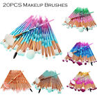 Pro 20PCS Eye Makeup Brushes Set Eyebrow Eyeshadow Lip Cosme