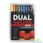 Tombow Dual Tip Brush Pen Marker Sketch Artist Drawing Coloring Markers Set New