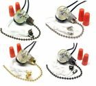Zing Ear ZE-109 2 Wire Pull Chain Switch Light Lamp Ceiling Fan Canopy ON-OFF