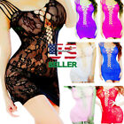 Внешний вид - Adult New Fishnet Body Stocking Women Sexy Lingerie Babydoll Sleepwear Bodysuit