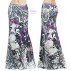 Women's LONG SKIRT Floral Paisley Purple Maxi (S/M/L/XL/1XL/2XL/3XL)