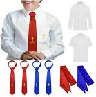 OFFICIAL PARKERS BOYS FIRST HOLY COMMUNION TIE SHIRT SASH RED BLUE DATED 2018