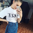 UK Fashion Womens Ladies Summer Loose Tops Cotton Short Sleeve Blouse T Shirt New with tags
