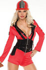 Coquette Firefighter Girl Costume Set M6134 Red/Black