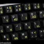 Polish Transparent Keyboard Stickers Computer for PC Laptop Notebook - 6 Colours
