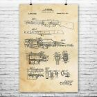 Browning Automatic Rifle Poster Print Browning BAR WW2 Weapon Gun Enthusiast