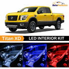 10x LED Interior Light Package Combo Kit for 2016 - 2018 Nissan Titan XD + Tool