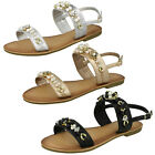 WHOLESALE Ladies Jewelled Sling Back Sandals / Sizes 3-8 / 18 Pairs / FW00116