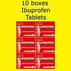 10x Ibuprofen 200mg Tablets Packs Backache Muscular Rheumatic Pain Migraine Cold