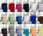 """Luxury Plain Pollycotton Percal Fitted Sheet 10""""(25cm) Deep All Sizes image"""