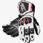RST Tractech Evo CE 2579 Waterproof White Leather Motorcycle Sport Glove New