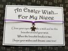 Niece * Easter Wish * Wish Bracelet * Friendship * Gift Card Family Greeting