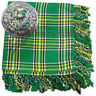 More images of Scottish Kilt Fly Plaid Irish Tartan Acrylic 48 x 48 Thistle Brooch Antique 3