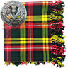 More images of Highland Kilt Fly Plaid Buchanan Tartan Acrylic 48 x 48 Thistle Brooch Antique