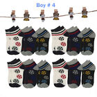 Lot 6 12Pairs Kids Crew Ankle Socks Toddler Boy Girl Casual Multi Color Size 0-8