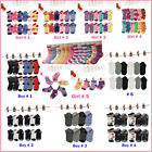 Lot 6 12Pairs Kids Crew Ankle Socks Toddler Boy Girl Casual Multi Color Size 0 8