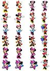 24 Mixed Minnie Mouse Large Sticky White Paper Stickers Labels NEW