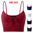 lace knitting - [FINAL SALE]Doublju Women's Lace Up Knit Crop Tank Top