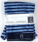 NIP Mens GAP Boxer Briefs Cotton Blend Blue Multi Stripe - 976648