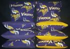 Minnesota Vikings Set of 8 Cornhole Bags FREE SHIPPING $25.99 USD on eBay