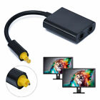 Digital Toslink Optical Fiber Audio 1 Male to 2 Female Splitter Adapter Cable