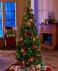 6 Ft Pre Lit Pop Up Christmas Tree 558 Tips + 100 Fairy Lights Clear Or Multi