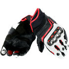 Dainese Carbon D1 Short Black White Lava Red Motorcycle Gloves NEW RRP £119.95