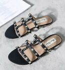 MW009673 - FASHION STUDDED FLAT SLIPPER SHOES (SIZE 34 - 40)